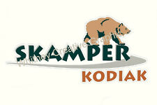 """""""KODIAK SCAMPER"""" RV decal graphic Lettering made fresh 45.5"""" X 22"""" Front/Rear"""