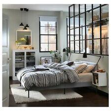 Upholstered bed frame, Knisa light gray, Full