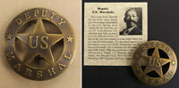 Deputy U.S. Marshal Badge, round, antiqued brass, old west, western, Bass Reeves