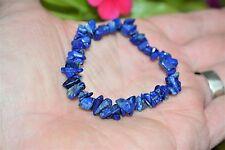 Premium CHARGED Lapis Lazuli Crystal Chip Stretchy Bracelet REIKI Energy