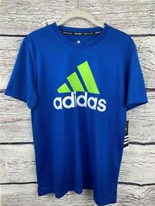 adidas Climalite Performance Athletic Top Shirt Boy's L (14-16) Poly Blue NWT