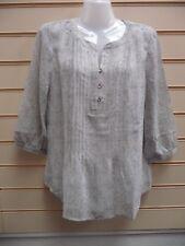 Ladies Top Blouse Grey Size 10 Kaleidoscope Tunic Printed Detail