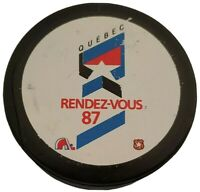 1987 NHL ALL STAR GAME PUCK RENDEZ-VOUS QUEBEC NORDIQUES VICEROY INGLASCO SLUG