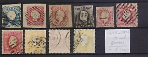 ! Portugal 1856-1880. Lot Of 10 Faulty Stamp. YT#. €+100.00!