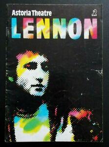 Lennon programme Astoria Theatre 1985 Jonathan Barlow Mark McGann Martyn Ellis