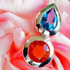 Natürliche Echtschmuck-Halsketten & -Anhänger mit Opal-Feuer