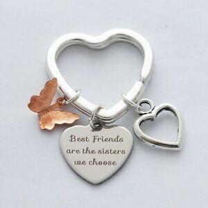 """Best Friends are the sisters we choose"" Butterfly Keepsake - Bag Charm Keyring"