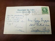 Vintage Post Card With A stamp Of Cuba 1933 Traveling To USA.(P5)