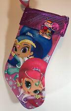 "Nickelodeon Girl's Shimmer and Shine Purple Christmas 16"" Stocking NWT"