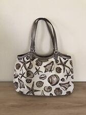 Coach Signature Stripe Seashell Resort Print Tote Bag. Rare Coach Handbag F29063
