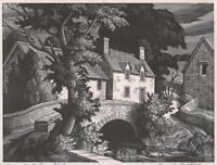 GEORGE MACKLEY (1900-1983) Pencil Signed Woodcut COTSWOLD BRIDGE - 3/75