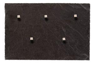Magnettafel aus Schiefer Gestein + 5 neodym Magnete 30*20cm Magnetwand Pinnwand