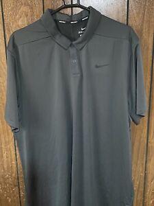 nike golf dri fit mens polo shirt gray xxl