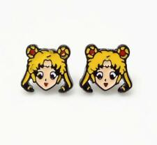 gift Sailor Moon head earring ear stud earrings studs anime hot cute
