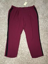 Mynt 1792 Women/'s Plus Black /& White Variegated Joggers Size 22