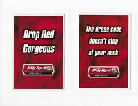 "Set of 2 Advertising Postcards: Big Red Chewing Gum -""DROP RED GORGEOUS"""