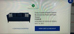 cindy crawford sofa-bed pull out