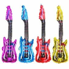 Guitar Foil Balloons Inflatable Blow Up Rock Toy Kids Birthday Party Decoration