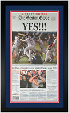 Boston Red Sox World Series Champions Original Newspaper 10/28/04 Framed!