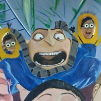 """Beautiful """"Despicable Me Photo Shoot"""",  Original Art Painting On Canvas"""
