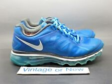 Women's Nike Air Max+ 2012 Blue Glow Grey White Running Shoes 487679-410 sz 7.5