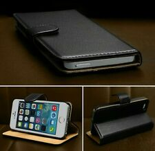 For iPhone 5 5S SE Case Luxury Real Genuine Leather Magnetic Flip Wallet Cover