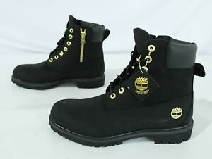 """Timberland x Culture Kings Men's 6"""" Leather Zip Boots JQ2 Black/Gold Size US:11"""