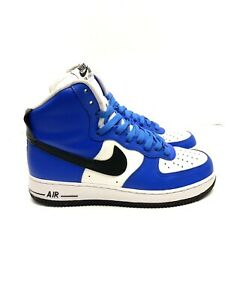 Nike Air Force 1 High Athletic Shoes Blue/Black/White AQ3771-992 Men's Size 7