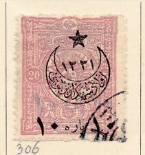 Turkey 1916 Early Issue Fine Used 20p. Star and Moon Optd 167742