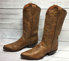 Dan Post Leather Western Cowboy Boots Brown Women US Size 8.5 M