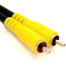 10m Composite RCA Yellow Phono Cable AV Video Digital Audio Lead RG59 75ohm