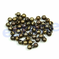 50Pc Vintage Alloy Bronze Color Small Jingle Bell Pendant Charm Jewelry Findings
