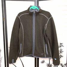 Kuhl Womens Fleece Jacket Sz L Large Gray Plush Full Zip Long Sleeve