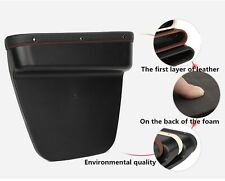1x Plastic Catch Catcher Box Caddy Car Seat Gap Slit Pocket Storage Organizer