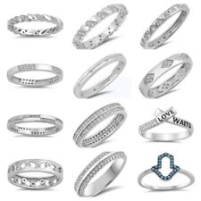 NEW! Sterling Silver- WEDDING BAND, LOVE WAITS, HAND OF GOD, RINGS SIZES 4-10