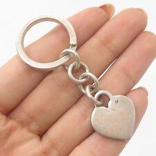Vtg 925 Sterling Silver Heart Key Chain