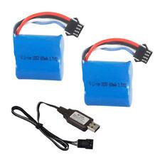 2Pcs 7.4V 600mAh Li-ion Battery & USB Charging Cable for UDI001 RC Boat