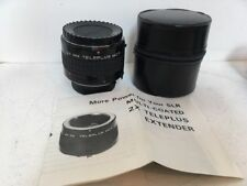TELEPLUS MX 2x SLR TELECONVERTER MC7 MINOLTA MOUNT+caps+instructions+case EX