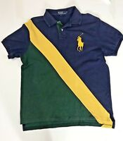 Polo by Ralph Lauren Custom Fit polo shirt men's sz. L  Blue Green Yellow