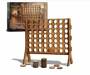 Hammer + Axe 4 IN A ROW Wood Tabletop Game