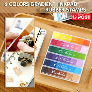 Gradient Color Ink Pad Inkpad Rubber Stamp Oil Based DIY Finger Print 10 Colours