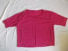 George G:21 Pretty  PInk  white speckled Top, Size 18