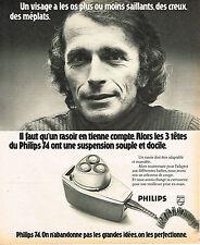 PUBLICITE ADVERTISING 114  1974  PHILIPS  rasoir 2