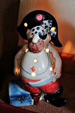Vintage Ceramic Night Light Lamp 'Pirate'