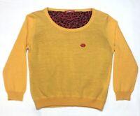 Fiorucci Women's Sweater With Red Lips Size L Orange (looks like it runs small)