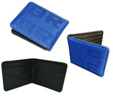 BRIDE Seat Gradation Logo Wallet Custom Stitched Leather Racing Super Cool Blue