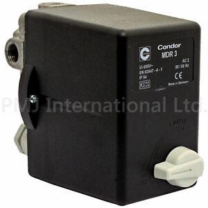 Condor MDR3 Pressure Switch for Air Compressor