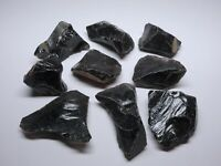 9 Obsidian Specimens 1 Lb Clear Smoky Black Natural Volcanic Glass Mineral 23370