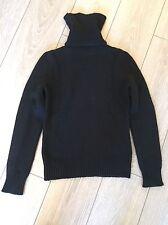 CELINE 100% Cashmere Black Knit Sweater sz M