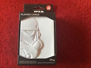 Star Wars Playing Card Set In Stormtrooper Embossed Tin Brand New - Official